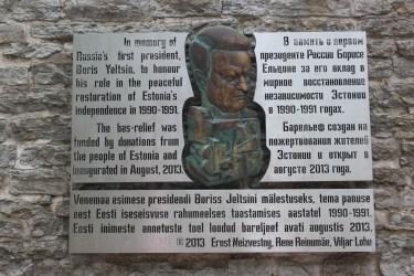 Boris Eltsine présent en 1991 au moment de l'indépendance de l'Estonie