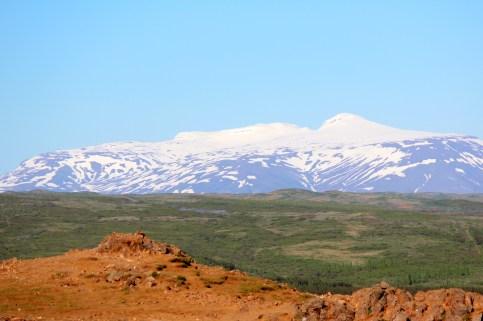 Le Langjökull au loin