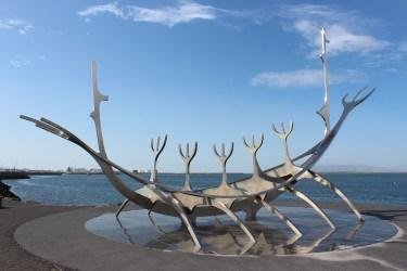 sculpture de Drakkar
