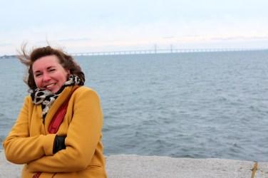 Au fond, le Bron(pont) Öresund qui relie Malmö à CPH