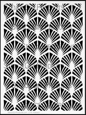Art Deco Wallpaper Stencil
