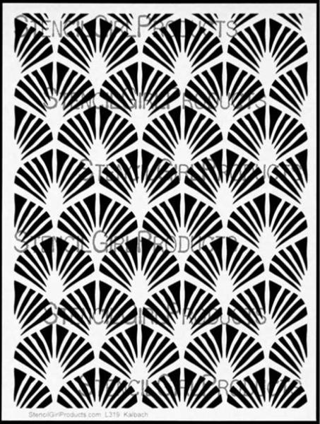 Art Deco Wallpaper Stencil