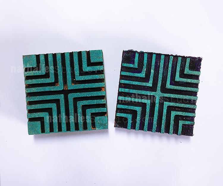 Mini Manhattan Positive and Negative Foam Stamp Set