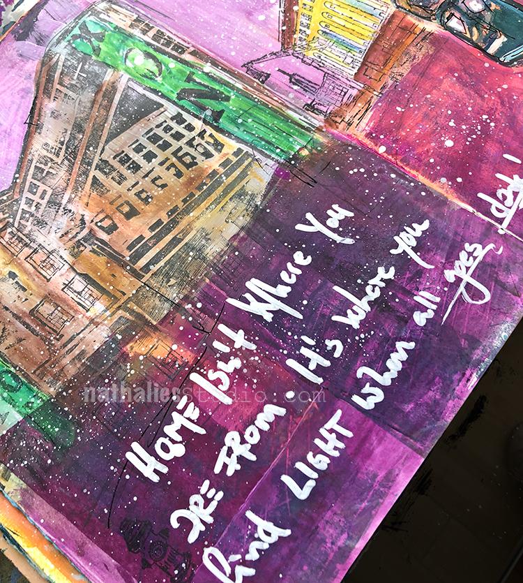 Where You Find Light Art Journal N Studio