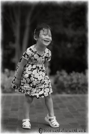 Joy laughs