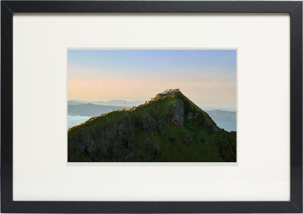 Photo of fine art print Hikers on Mount Batur on display.