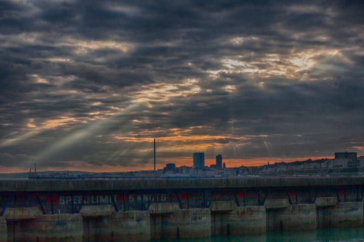 Sunset from Brighton Marina