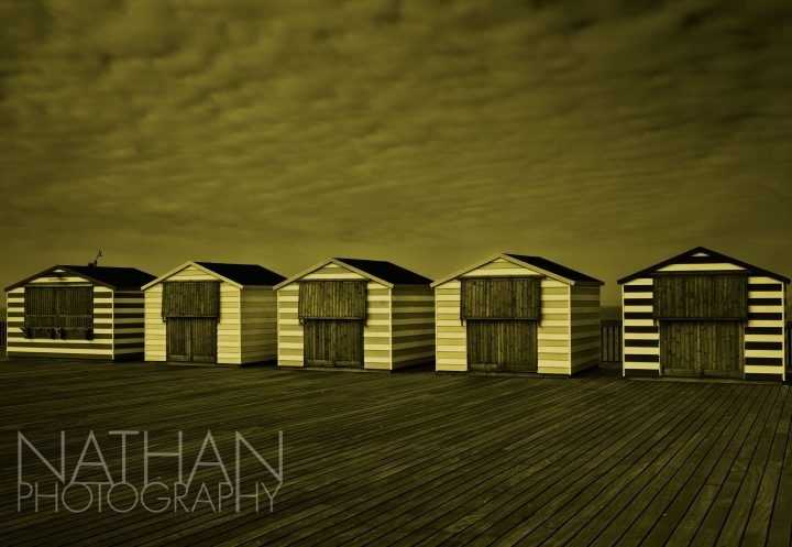 beach huts hastings pier