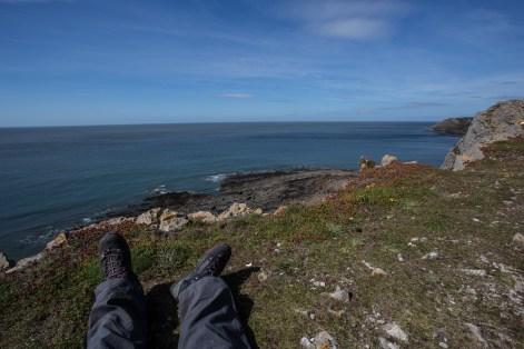 Stopping for a break at Port Eynon Point