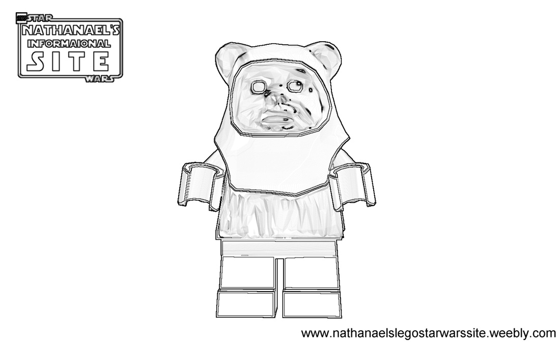 lego ewok colouring pages page 2