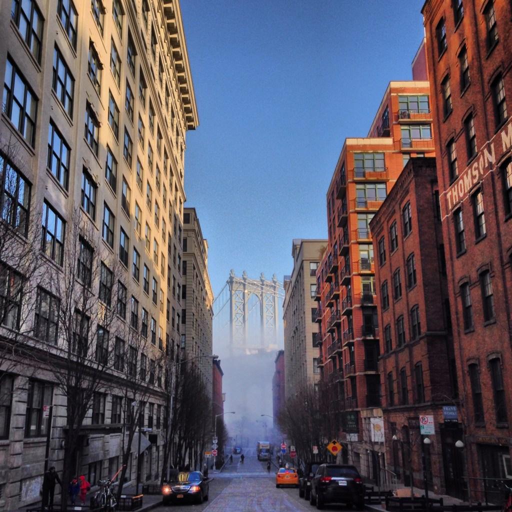 Photograph of the Manhattan Bridge in DUMBO, Brooklyn