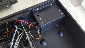 Hard drive enclosure reinstalled