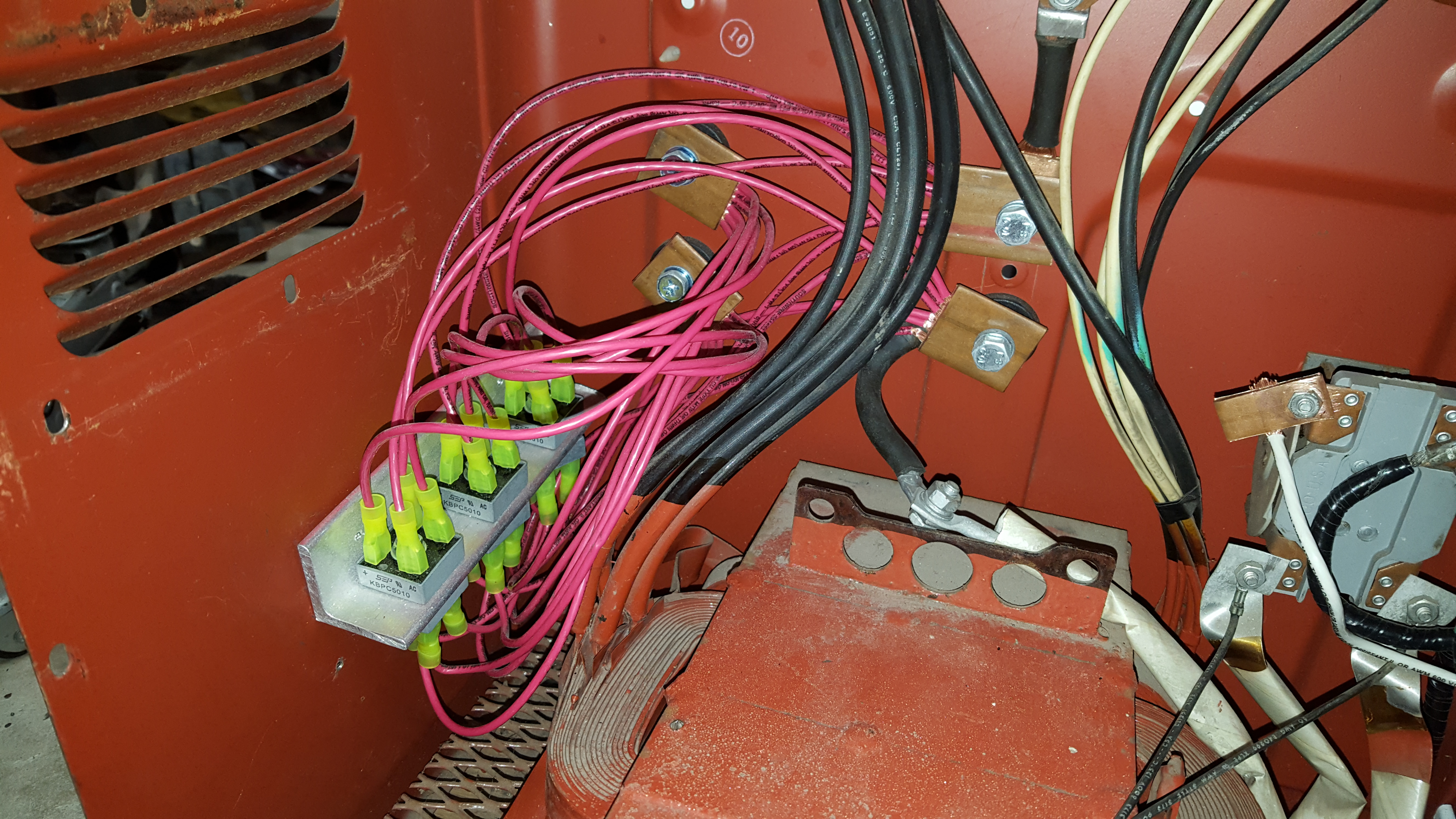 Ac 225 Welder Amperage Control With Scrs Next Project Potentiometer Wiring The Rectifier Bank Getting Its Input From Lugs And Outputting Rectified Current To Dc