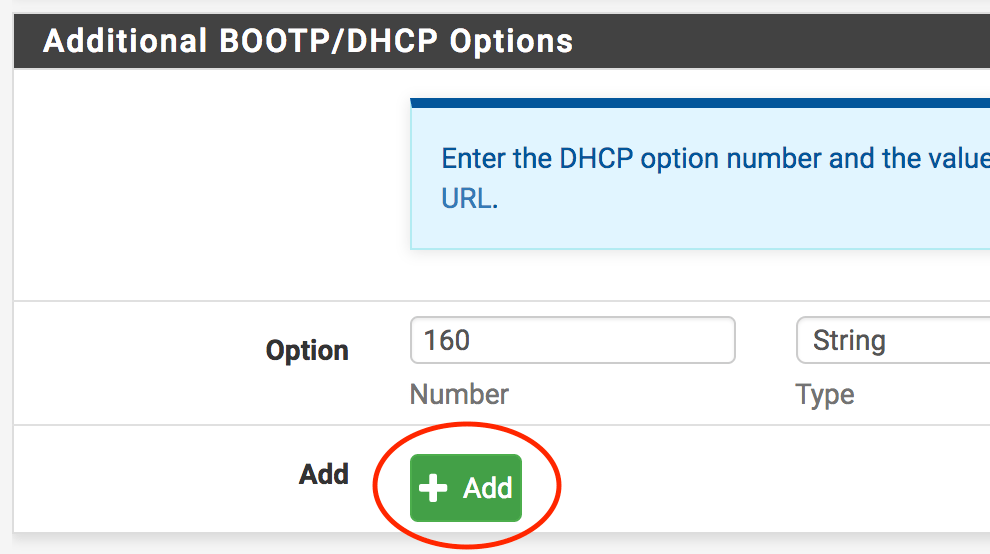 Provisioning Polycom Phones with DHCP Option 160 in pfSense, Meraki