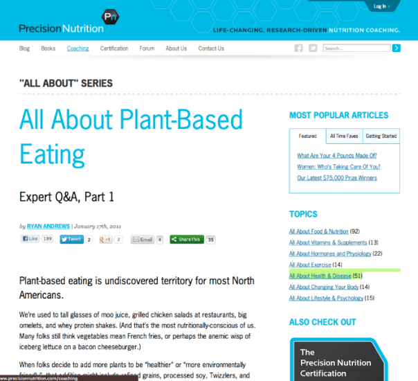 All About Plant Based Eating, Q&A Roundtable Precision Nutrition