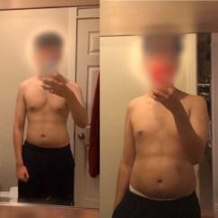 down 15 lbs in 4 weeks