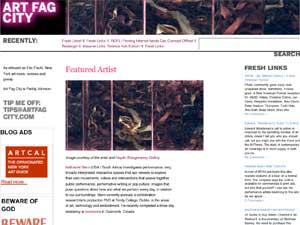 nathaniel stern: Art Fag City featured artist