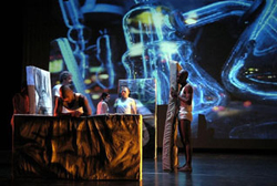 Petra: multimedia performance with the Forgotten Angle Theatre Collaborative