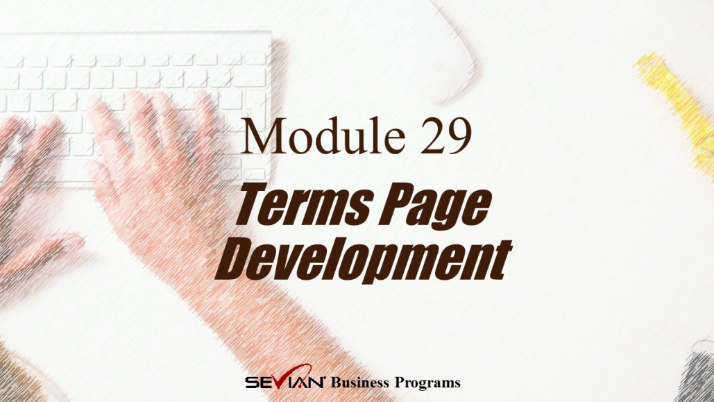Terms Page Development, Digital Products Platform, Nathan Ives
