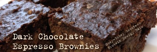 Dark Chocolate Espresso Brownies (Ooey-Gooey Goodness Protein Energy Bars)