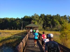 Foot bridge at Hinson Lake 24 Hour