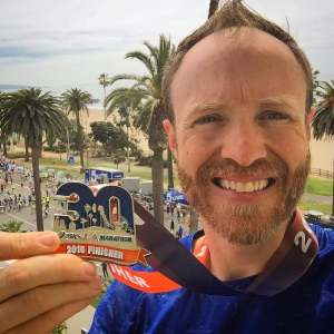 Finishers medal at the LA Marathon