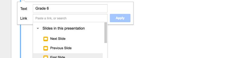How to link Google Slides to other slides