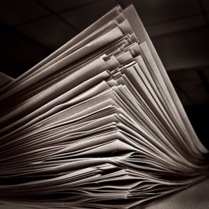 Stack of papers by Jenni C on flickr