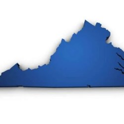 blue map of virginia