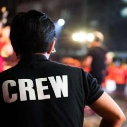 stage crew member or roadie