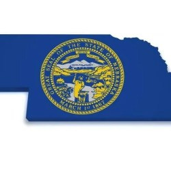 Nebraska with state seal