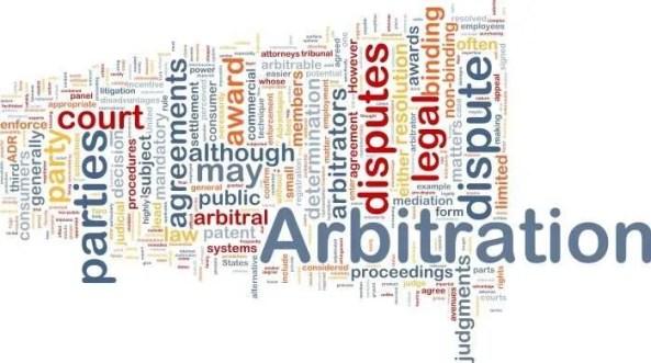 Arbitration word cloud