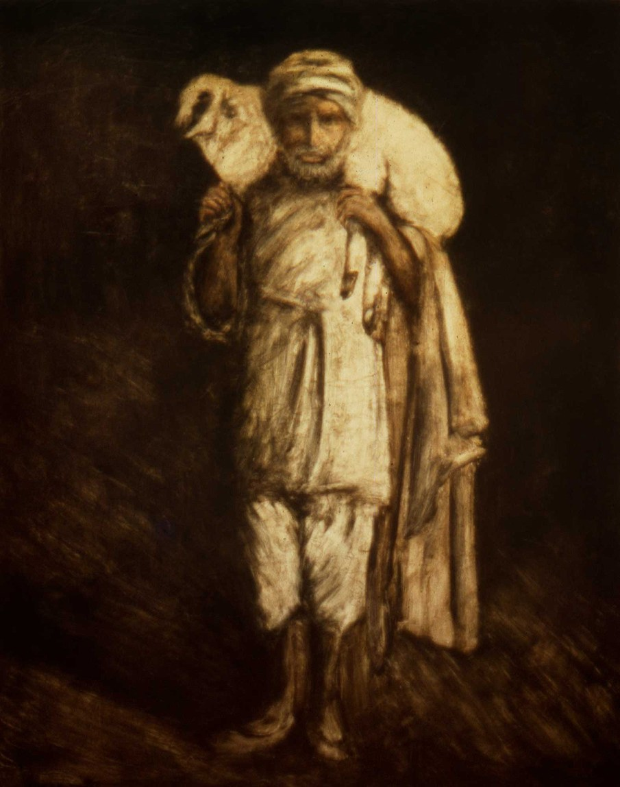 Shepherd, oil on canvas, 60 X 48, 1991, private collection
