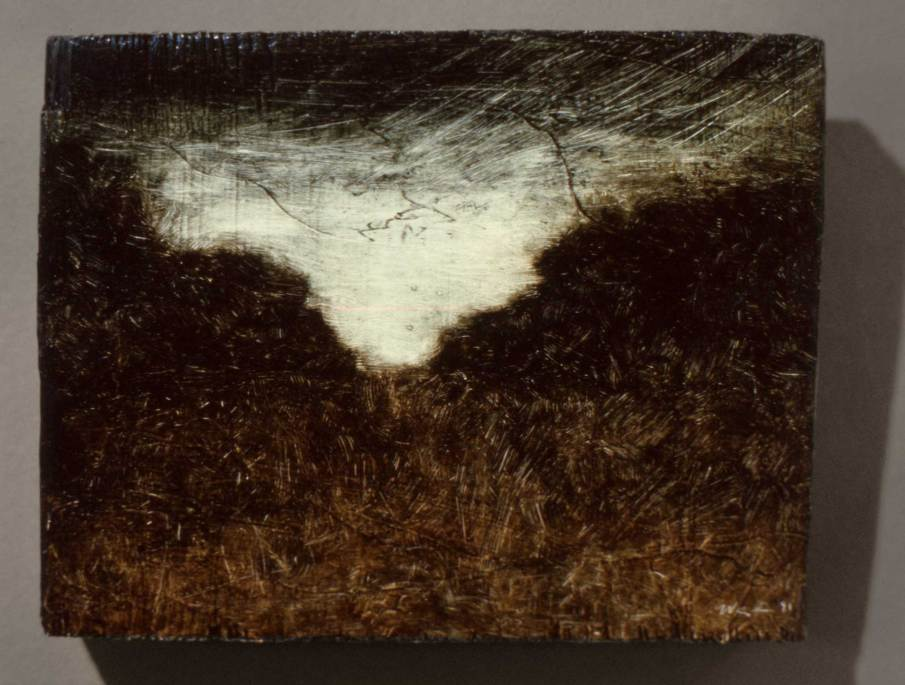 Landscape, oil on wood, 4 X 5, 1991, private collection