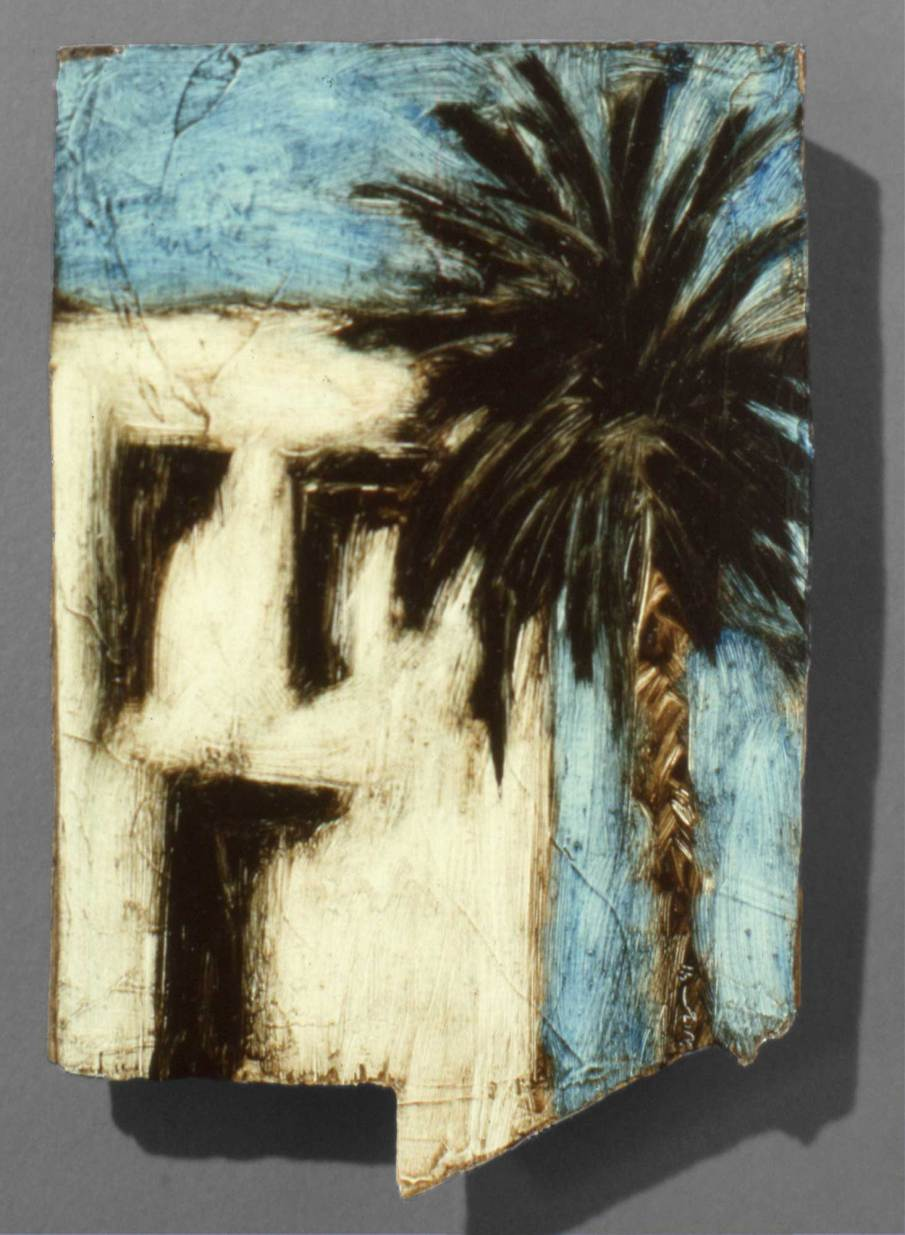 Tunisia, oil on wood, 7 inches tall, 1991, private collection