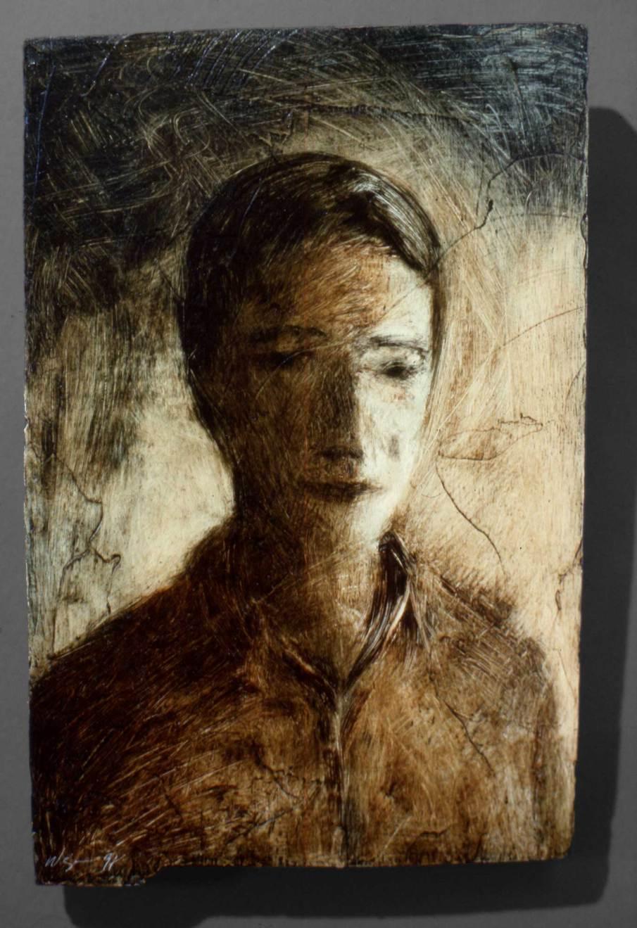 David, oil on wood, 10 X 7, 1991