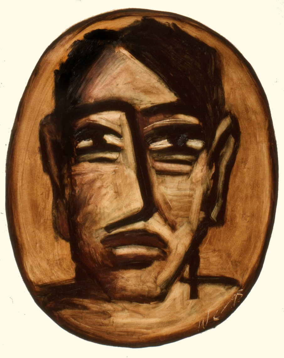 Face No. 1.9, oil on paper, 30 x 22, 1993, private collection