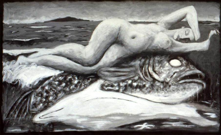 Birth of Venus, After Granger, acrylic on paper, 36 X 57, 1987