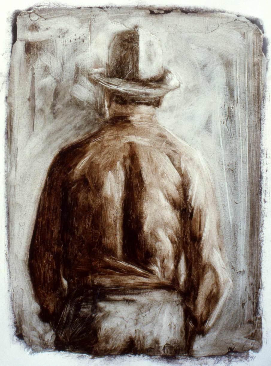 Henry Geldzahler, oil on paper, 12 X 10, 1991