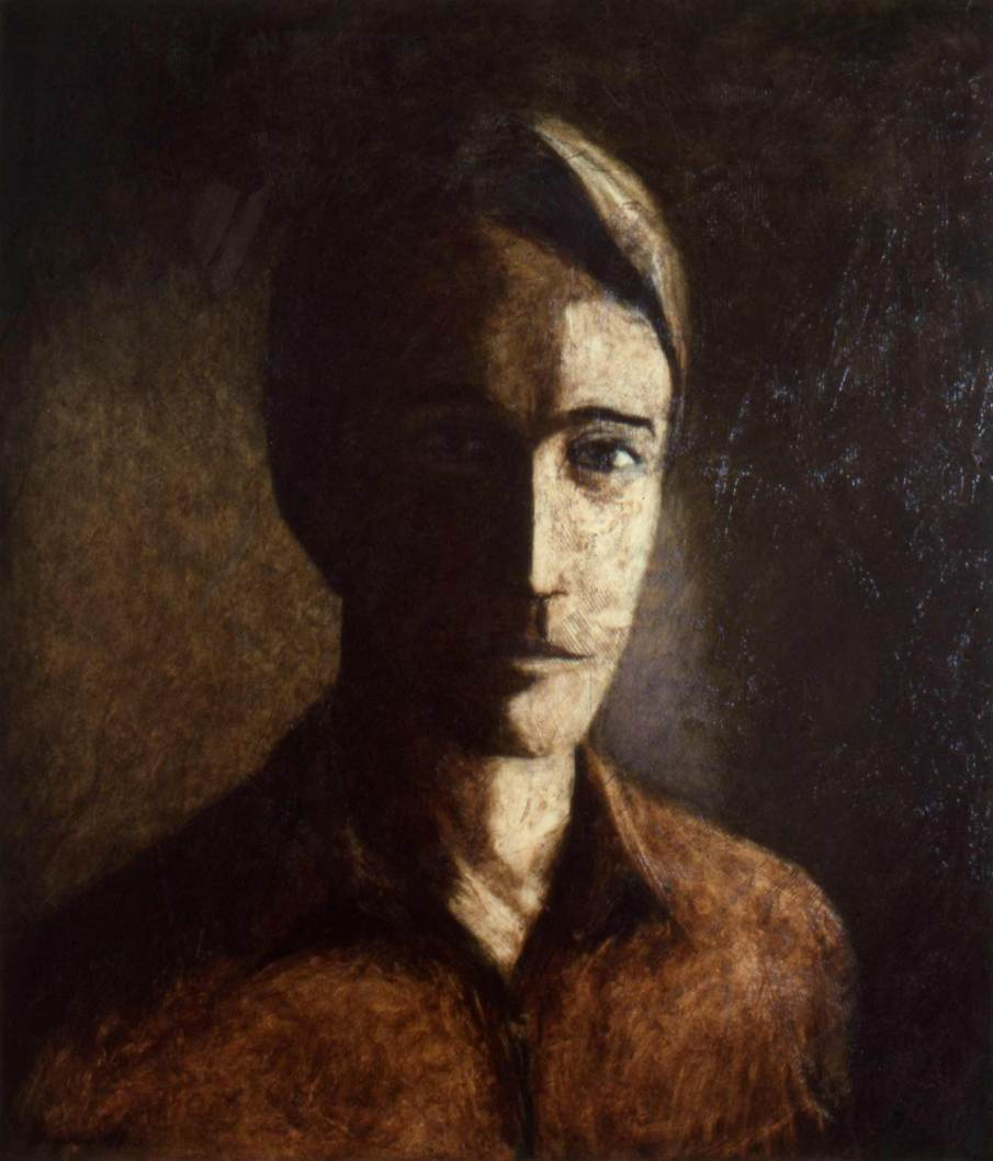 Portrait of DB, oil on canvas, 30 X 24, 1991, private collection