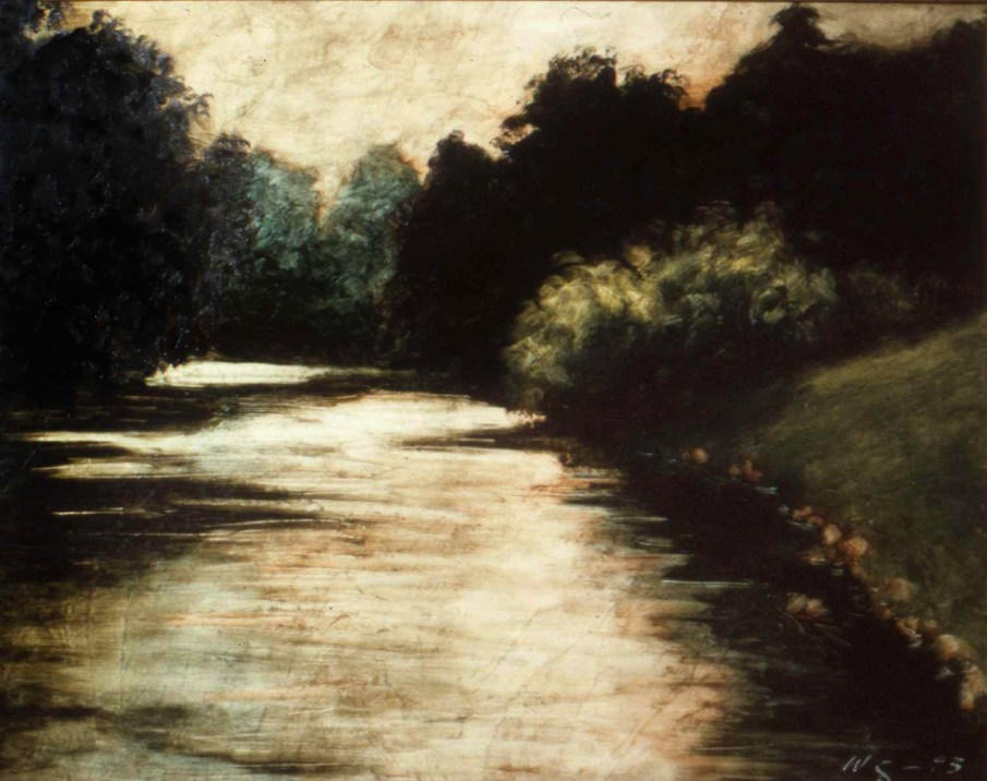 The Little Juniata, oil on panel, 20 X 24, 1993, private collection