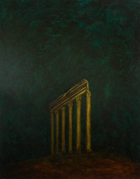 Temple, oil on canvas, 60 X 48, 1991