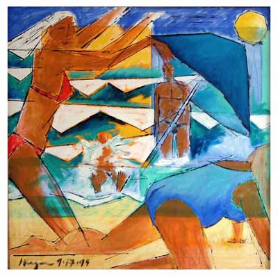 Oleron No. 2, oil on canvas, 36 X 36, 1994, private collection