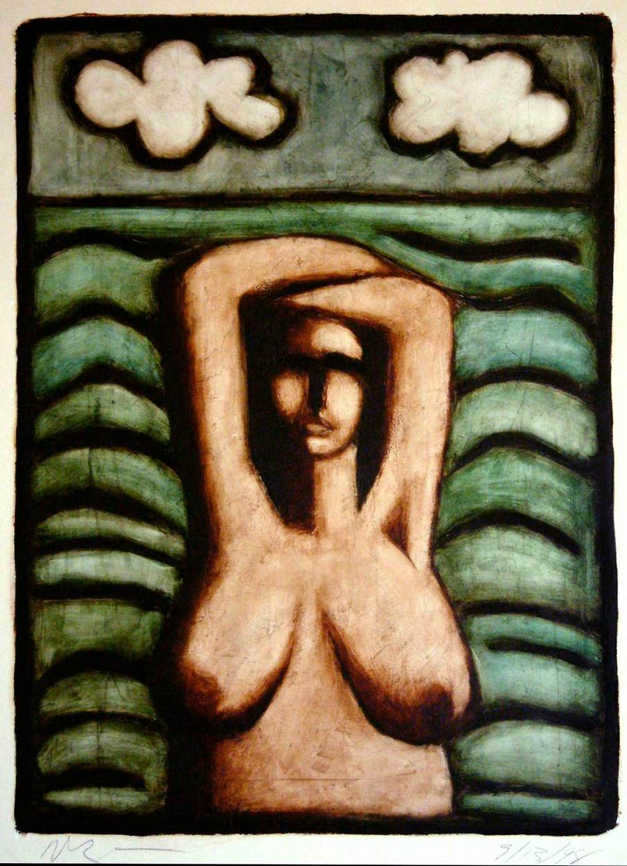 Betty By The Sea, oil on paper, 30 X 22, 1998, private collection