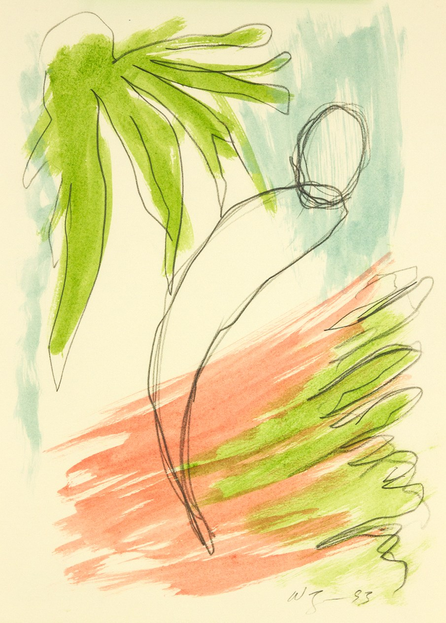 The Garden No. 1, watercolor on paper, 13 X 10, 1993