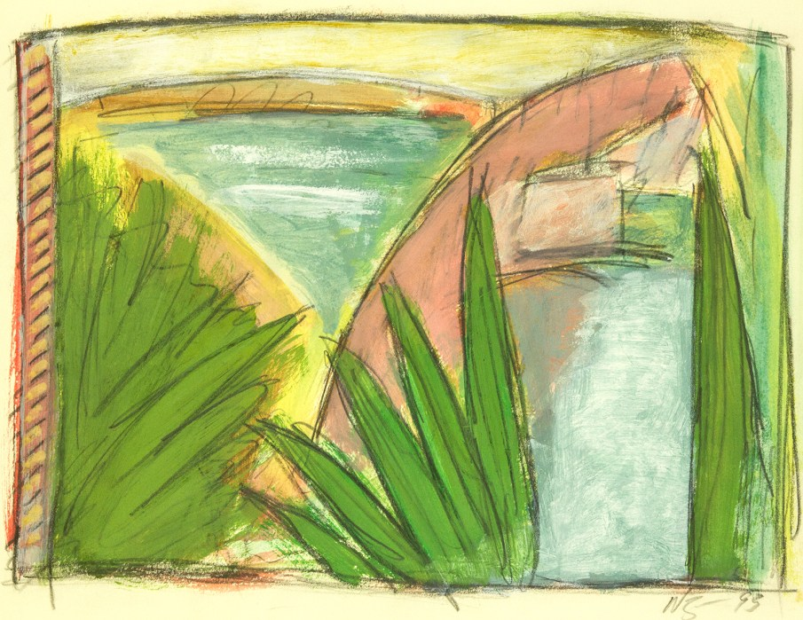 The Garden No. 4, watercolor on paper, 10 X 13, 1993