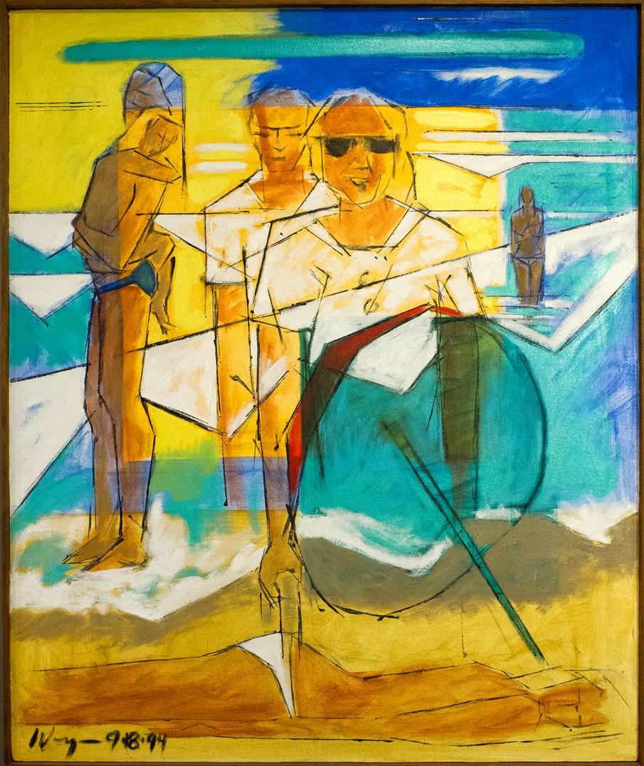 Oleron No. 4, oil on canvas, 36 X 30, 1994