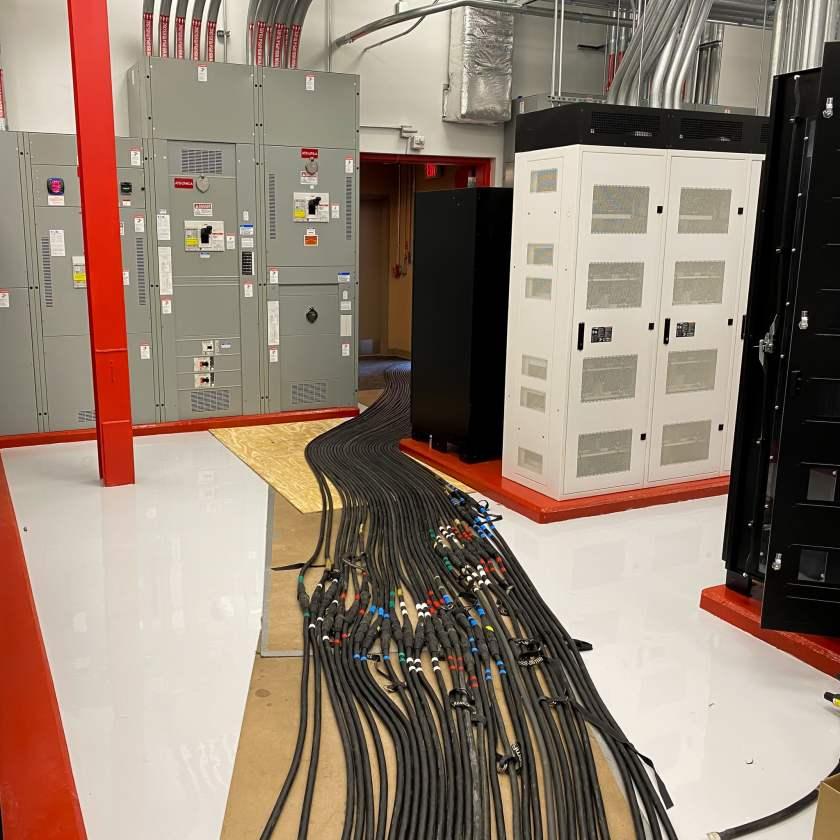 Load bank cable runs