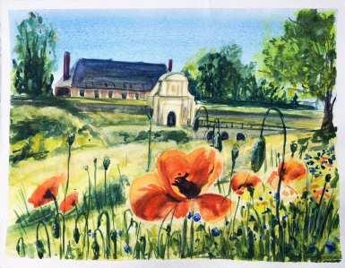 J49 Watercolor in Arras J1