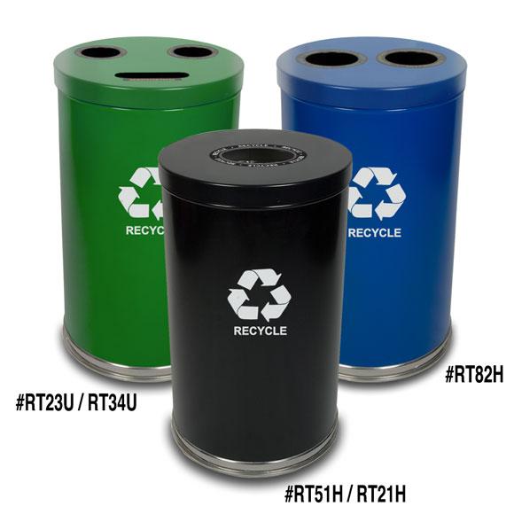 Waste Recycling Cabi Doors Open
